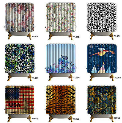 180X180CM Modern Stylish Fabric Shower Curtain Bathroom