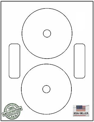 200 Neato Compatible CD/DVD Labels, Matte White Laser InkJet / 100 Sheets