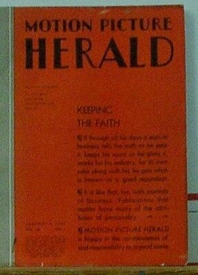 Motion Picture Herald Jan 4Th 1941 News And Reviews