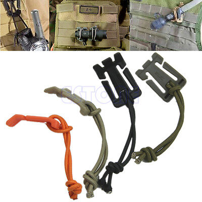 2Pcs Strap Hang Buckle Bungee Elastic Tactical Cord Roll Clip Style Webbing New