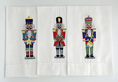 Christmas Nutcracker Embroidered Guest Towels Set