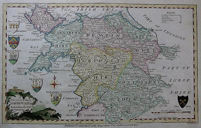 NORTH WALES ANGLESEY GENUINE ENGRAVED ANTIQUE MAP BY THOMAS CONDOR  c1786
