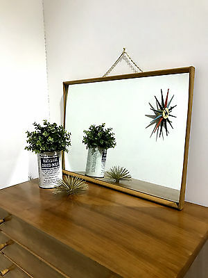 60'S Framed Wall Mirror With Chain