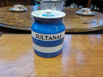 Vintage Cornish Ware T G. Green Sultanas Jar