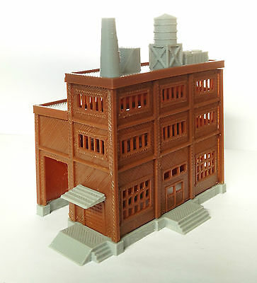 Outland Models Railroad Building Large Factory with Covered Loading Dock N Scale