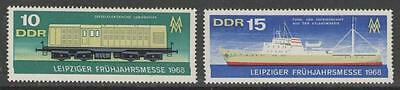 Germany Sge1069/70 1968 Leipzig Spring Fair Mnh