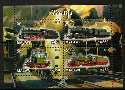 Malawi 2012 Trains Sheetlet (No2) Mnh