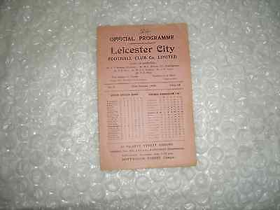 Leicester City v Barnsley 30th October 1948.
