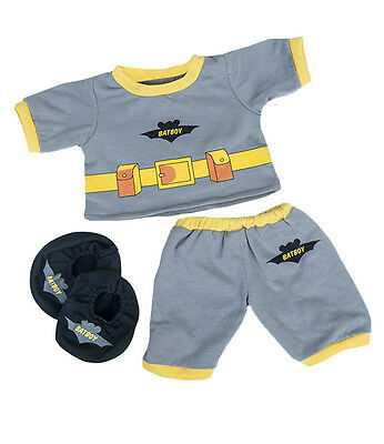 "Bat Boy pyjamas pjs with slippers outfit teddy clothes to fit 15"" build a bear"