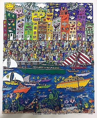 James Rizzi » Living Near The Water «  Seltenes 3D  aus 1993