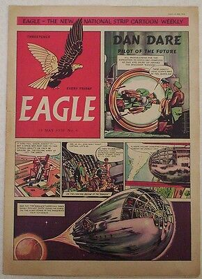 Vintage EAGLE Comic Vol.1 # 6 Dated May 1950. Cutaway of a Gas-Turbine Ship