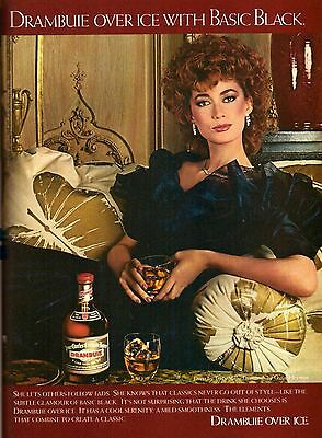1982 Drambuie Liquor Fashion Oscar Heyman Print Advertisement Ad Vintage VTG 80s