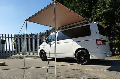 Van Guard VW Transporter T5 T6 2 Ulti Roof Bars With Pull Out Awning 2M X 2M