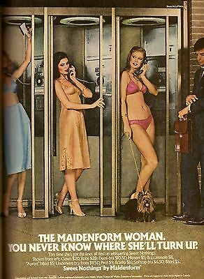 1980 Maidenform Bra Panties Sexy Lingerie Print Advertisement Ad Vintage VTG 80s