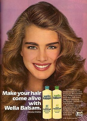 1981 Wella Balsam Conditioner Brooke Shields Print Advertisement Ad Vintage 80s