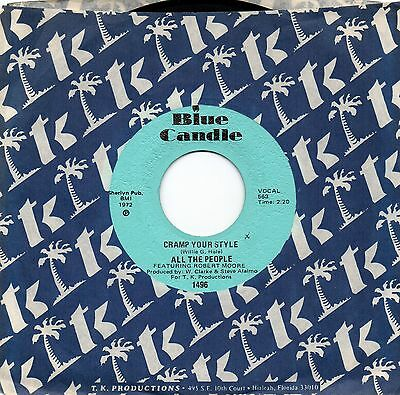 ALL THE PEOPLE 'Cramp Your Style' US Blue Candle Miami Funk/Soul/Breaks 45 HEAR!