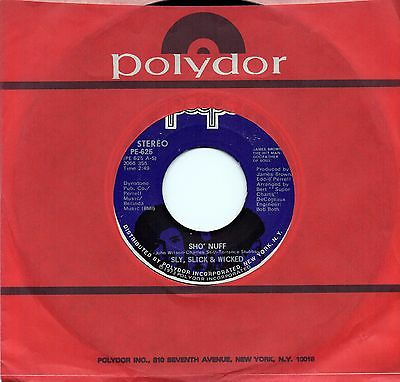SLY SLICK & WICKED 'Sho Nuff/Ready For You' US People Funk/Sweet Soul 45 HEAR!!