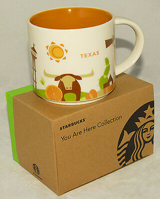 STARBUCKS - YOU are HERE - TEXAS  Scenic Collectible COFFEE CUP 2015 *NEW IN BOX