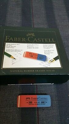 scatola gomme per cancellare Faber Castell 7070-40 eraser new old stock
