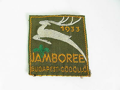 Vtg Original Boy Scouts 1933 Jamboree Patch / Badge - Godollo Hungary - Stag