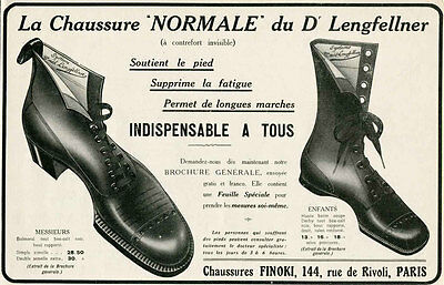 1911 Ad Print Chaussures Finoki Dr.Lengfellner Normale Shoes