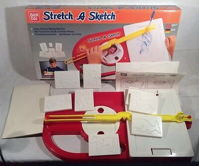 "Collectable Vintage ""Stretch A Sketch Drawing Machine By Ban Dai, 1980s"