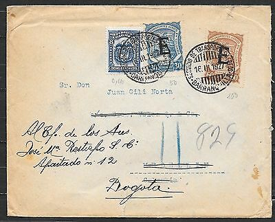 Colombia cover 1927 mixed franked SCADTA Airmail Wandercover to Medellin