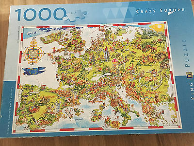 1000 Piece CRAZY EUROPE  Stunning  Jigsaw Puzzle  by  King