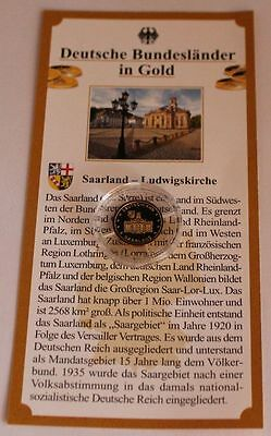 Medaille Saarland - Ludwigskirche Gold PP