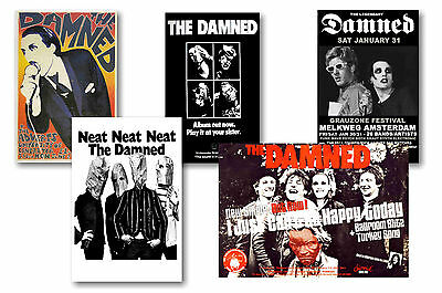 The Damned - Set Of 5 - A4 Poster Prints # 2