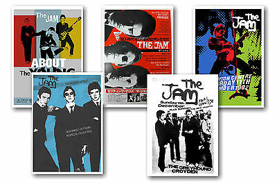 The Jam - Set Of 5 - A4 Poster Prints # 2