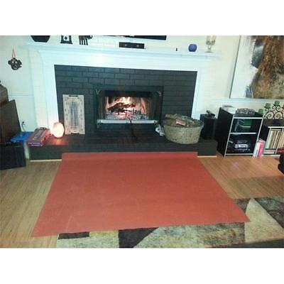 PyroProtecto 60 x 40 in. Square Hearth Rug, Redwood