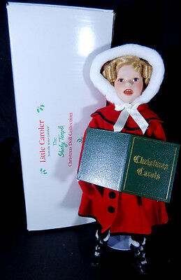 """Danbury Mint Shirley Temple Little Caroler Christmas Doll Collection 18"""""""