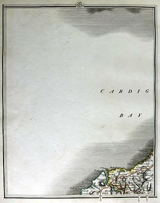 WALES CARDIGANSHIRE CARDIGAN BY JOHN CARY GENUINE ANTIQUE MAP  c1824