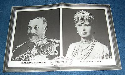 1935 Royal Jubilee Picture of King George V and Queen Mary