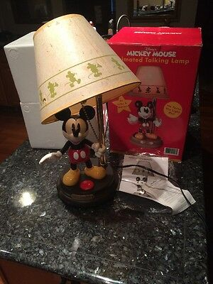 Mickey Mouse Animated Talking Lamp  With Original Box And Foam