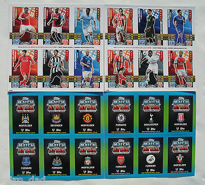 Football MATCH ATTAX 2015-16 Promo SET 12 TRADING GAME CARDS 2 SHEETS Card LOT