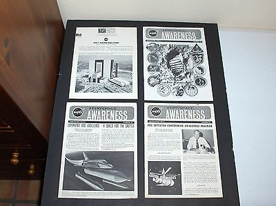 Vintage 4 Early Nasa Facts Publications 1967-1973 Multiple Pages In Each Facts