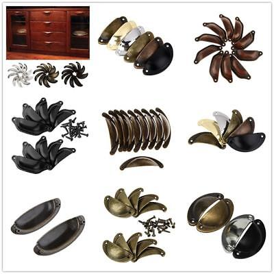 Vintage Kitchen Cupboard Cabinet Drawer Knobs Door Pull Handles Cup Shell