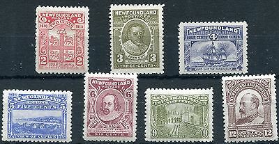 1910 - Newfoundland - Selection Of 7, Mint