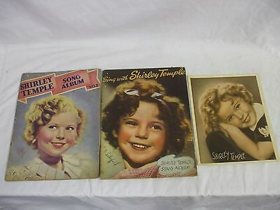 2 Shirley Temple Song Book 1935 & 1936 And Picture