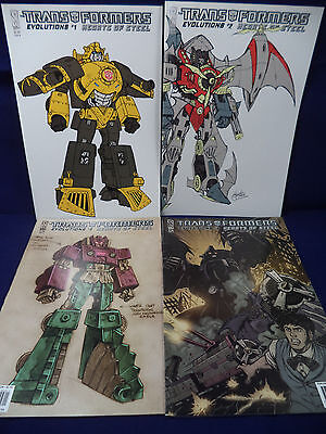 TRANSFORMERS Evolutions HEARTS OF STEEL 1, 2, 3, 4 Complete Set Four Comics IDW