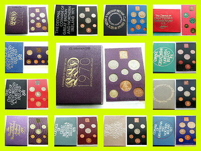Royal Mint Uncirculated Coin Sets 1970 to 1982 BIRTHDAY, ANNIVERSARY,