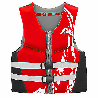 Airhead Swoosh Neolite 50-90 Lb Kwik-Dry Red Youth Life Vest Jacket 10076-03-RD
