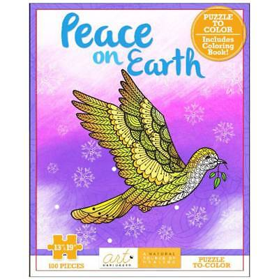 NEW Art Unplugged Peace Coloring Puzzle 1940899265