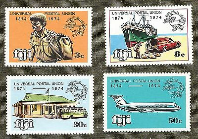 Mnh Set 4 Stamps 1974 Fiji Centenary Upu