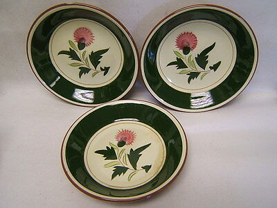 """Stangl """"Thistle"""" Coupe/Soup Bowls Lot of 3 (2) Excellent Cond (1) Minor Flaw"""