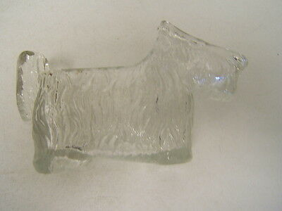 "Clear Glass Scotty Dog Candy Dish  5 1/2"" long VGC"