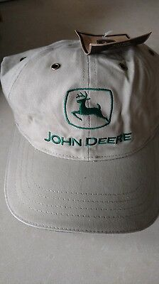 John Deere Tan Hat New Logo Mint never used with tags!