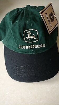 John Deere Green/Black Hat New Logo Mint never used with tags!